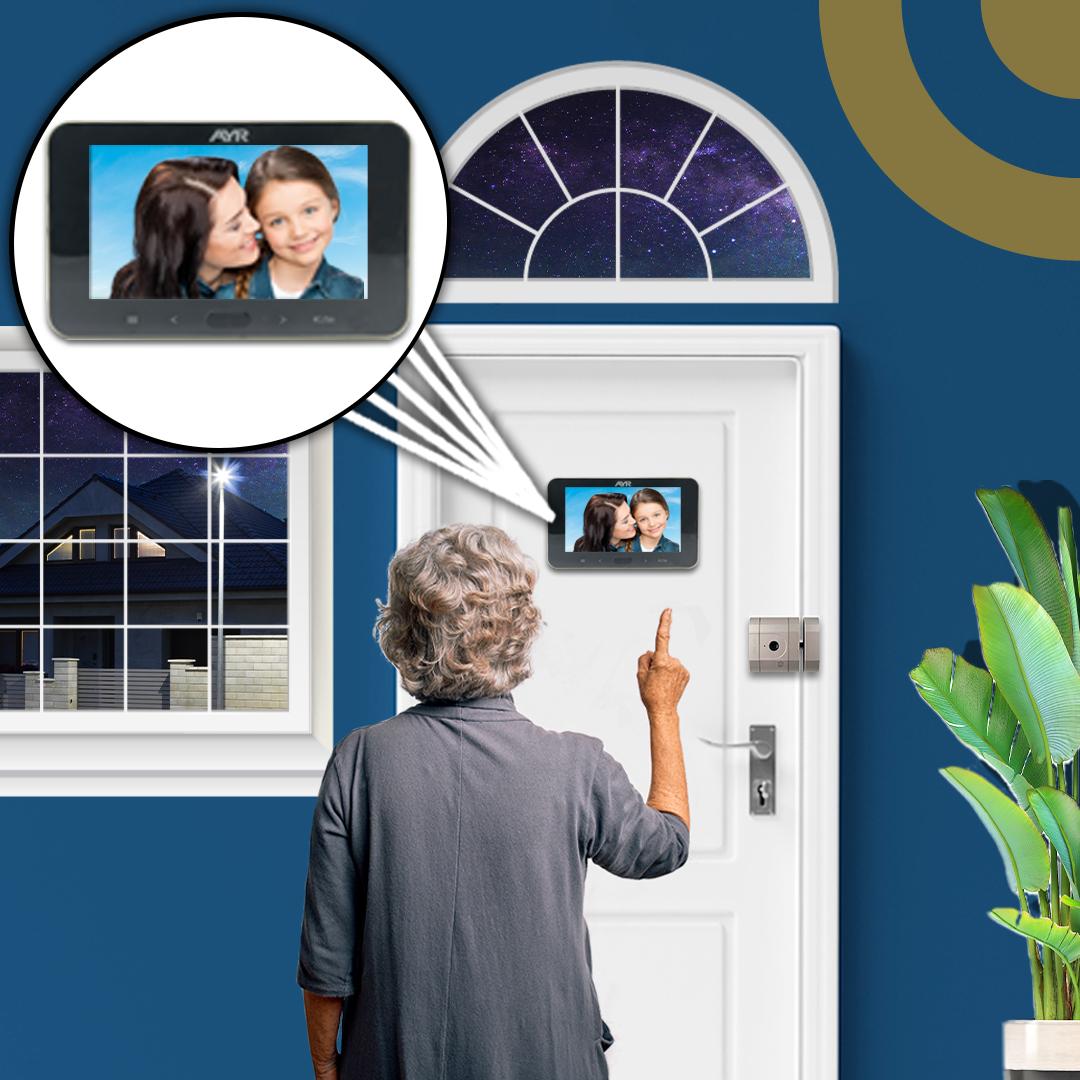 Protege tu hogar con las mirillas digitales viendo quién ha estado delante de tu puerta cuando vuelves a casa